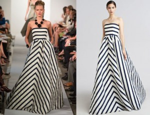 Oscar-de-la-Renta-Strapless-Striped-Gazar-Gown-523x399