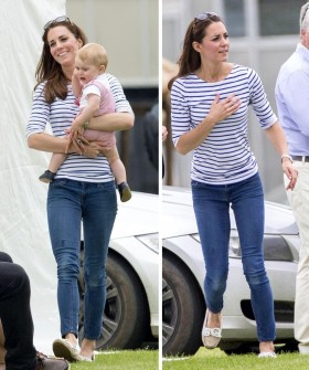 Mandatory Credit: Photo by REX (3825799aw) Catherine Duchess of Cambridge and Prince George Jerudong Trophy polo match, Cirencester Polo Club, Gloucestershire, Britain - 15 Jun 2014