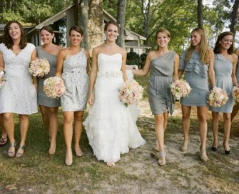 Country-Wedding-with-Gray-Dresses-2013