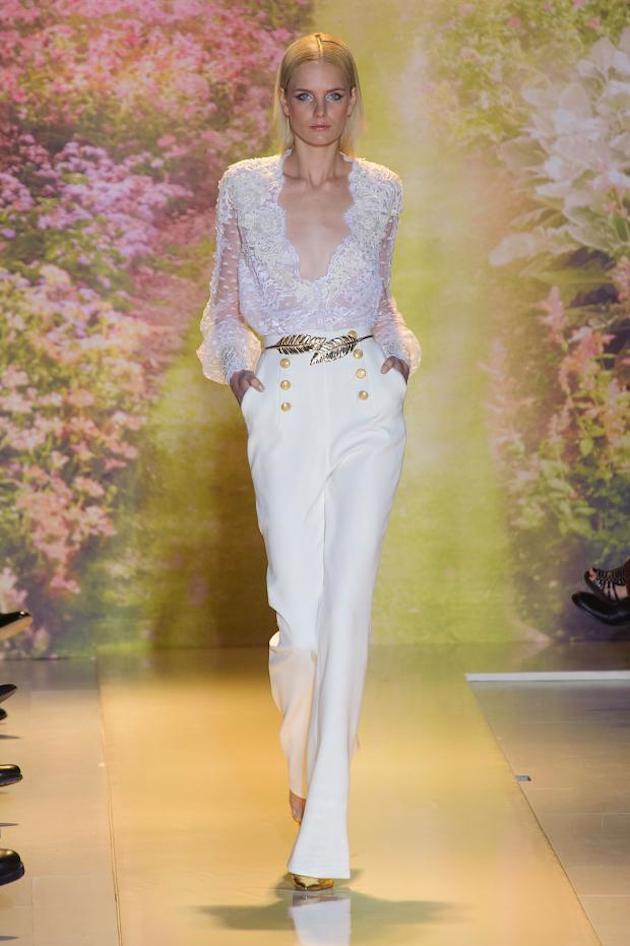 Bride In Pants White Wedding Suit Bridal Musings Blog 4 Newport Manners